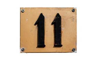 11 sign