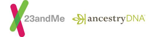 23andMe & AncestryDNA logos