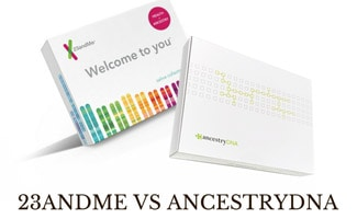 23andMe and AncestryDNA boxes
