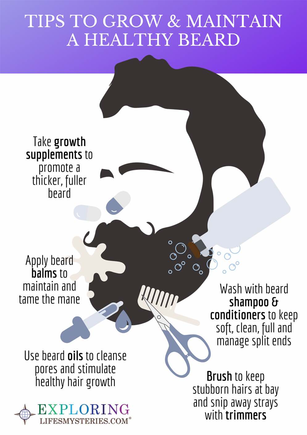 Beard Growth and Care Infographic