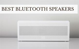 Bluetooth speakers on table (caption: Best Bluetooth Speakers)