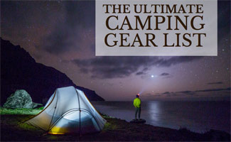 Guy camping in dark: Best Camping Gear List