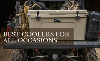 Cooler on the back of truck