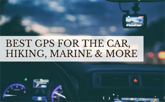 Person driving with GPS (caption: Best GPS For The Car, Hiking, Marine and More)