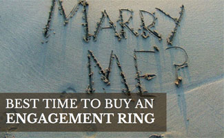 Marry me in the sand: Best Time to Buy Engagement Ring