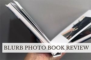 Blurb book open (caption: Blurb Photo Book Review)