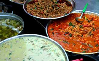 Bowls of Thai curries