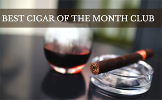 Cigar and Red Wine (caption: Best Cigar of the Month Club)