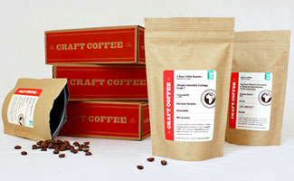 Craft Coffee boxes and pouches