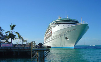 Cruise ship on water near Cuba