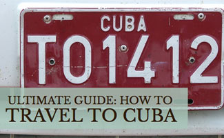 License plate in Cuba