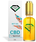 Diamond CBD oil bottle