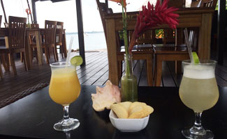 Drinks on the water in Bocas del Toro