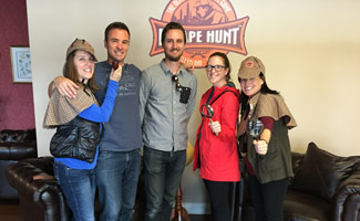 Exploring Life's Mysteries team at Escape Hunt in Cleveland, Ohio