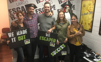 Team CSM at Escape Room Extreme with props