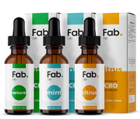 Fab CBD Oil bottles