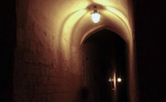 Ghost in archway