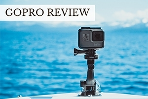 GoPro near ocean (caption: GoPro Review)