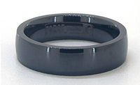 6mm men's black titanium wedding band