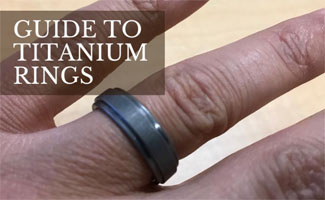 Titanium Ring on man's hand (caption: Guide to Titanium Rings)