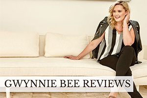 Girl wearing clothes on sofa (caption: Gwynnie Bee Reviews)