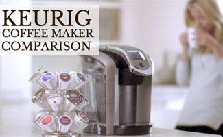 Keurig coffee maker on the kitchen counter