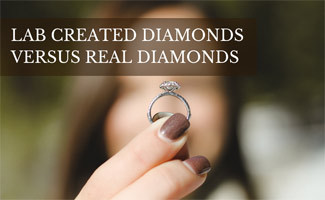 Girl holding diamond ring