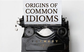 Typewriter with Origins of Common Idioms