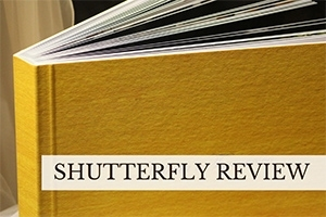 Shutterfly book (caption: Shutterfly Review)