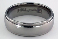 7mm men's titanium wedding ring