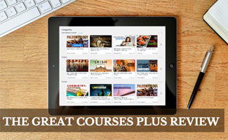 The Great Courses Plus on iPad on desk