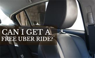 Empty Uber car