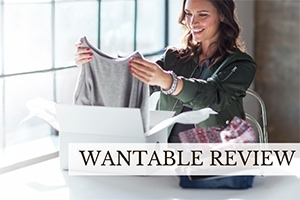 Girl unboxing clothing (caption: Wantable Review)