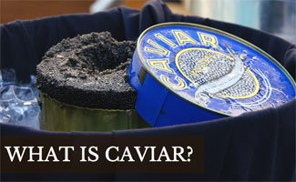 Bowl of caviar