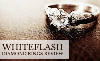 Whiteflash diamond ring