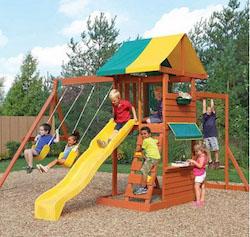 Big Backyard Hazelwood Wooden Swing Set