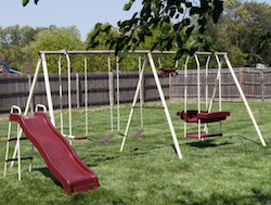 Flexible Flyer Play & Park Metal Swing Set