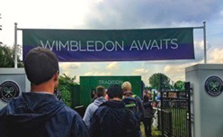 Wimbledon entrance sign