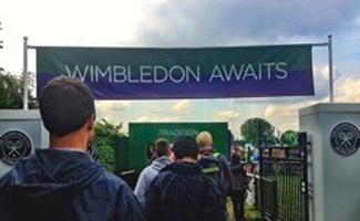 Wimbledon entrance sign